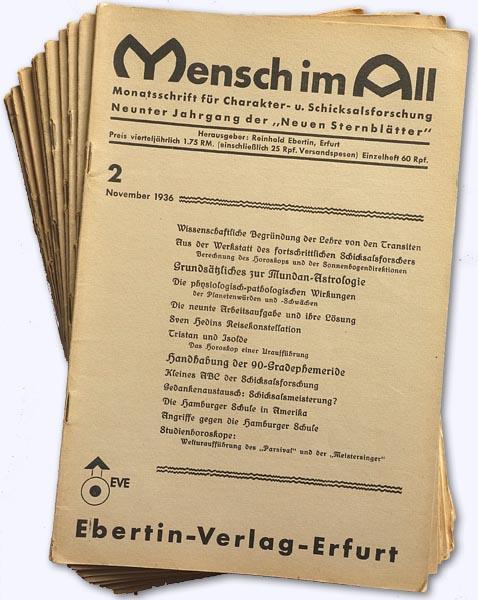 Mensch im All. 9. Jhg. 1936-37, Heft: Ebertin, Reinhold (Hrsg.):