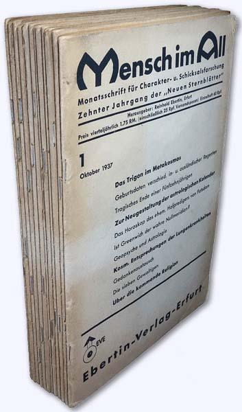 Mensch im All. 10. Jhg. 1937-38, Heft: Ebertin, Reinhold (Hrsg.):