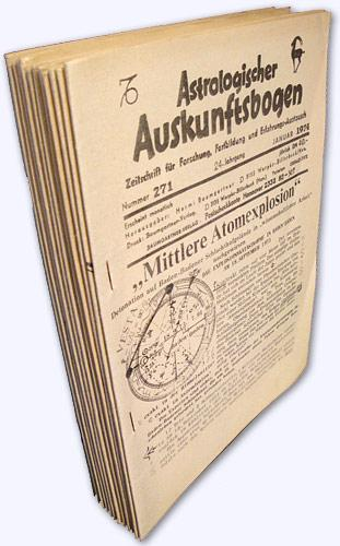 Astrologischer Auskunftsbogen. 24. Jhg. 1974, Nr. 271-282: Baumgartner, Hermi (Hrsg.):