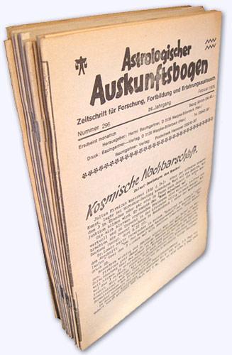 Astrologischer Auskunftsbogen. 26. Jhg. 1976, Nr. 296: Baumgartner, Hermi (Hrsg.):