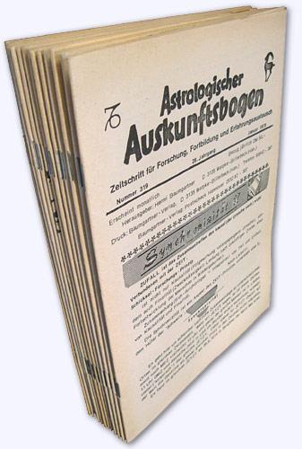 Astrologischer Auskunftsbogen. 28. Jhg. 1978, Nr. 319-330: Baumgartner, Hermi (Hrsg.):