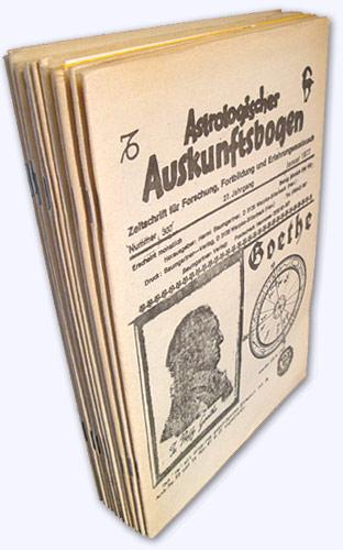 Astrologischer Auskunftsbogen. 27. Jhg. 1977, Nr. 307-318: Baumgartner, Hermi (Hrsg.):