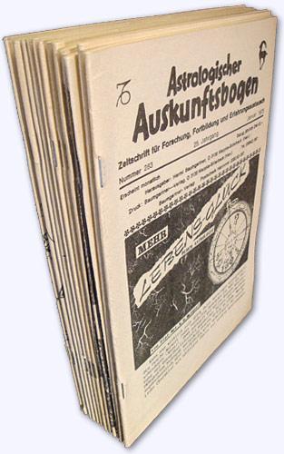 Astrologischer Auskunftsbogen. 25. Jhg. 1975, Nr. 283-294: Baumgartner, Hermi (Hrsg.):