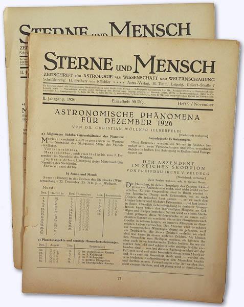 Sterne und Mensch. 2. Jhg. 1926, Heft: Klöckler, H[erbert] Frhr.