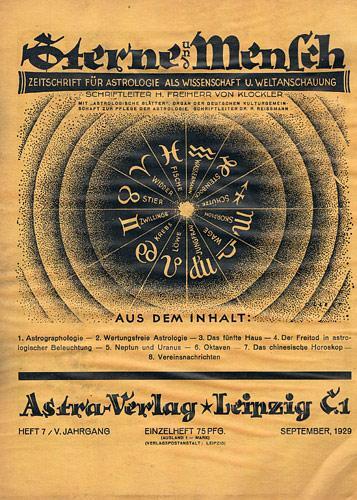 Sterne und Mensch. V. Jhg. 1929-30, Heft: Klöckler, H[erbert] Frhr.