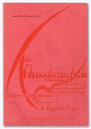 Die Menschenschule. XI. Jhg. 1937, Heft 3: Englert-Faye, C. (Hrsg.):