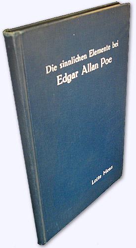 Die sinnlichen Elemente bei Edgar Allan Poe: Menz, Lotte:
