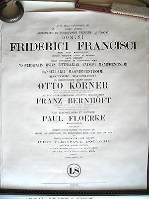 Promotionsurkunde von Paul Floerke: Quod felix faustumque: Anonym];