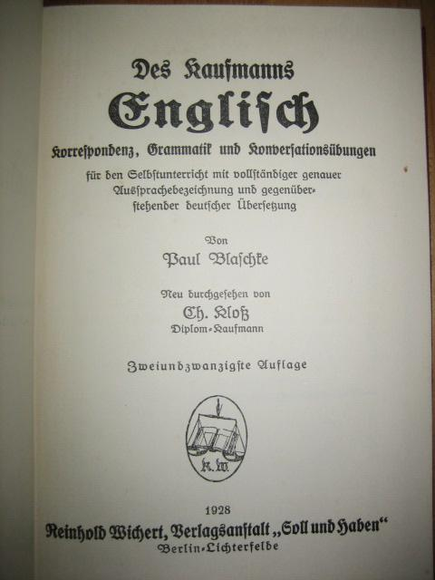 Diplom kaufmann englisch