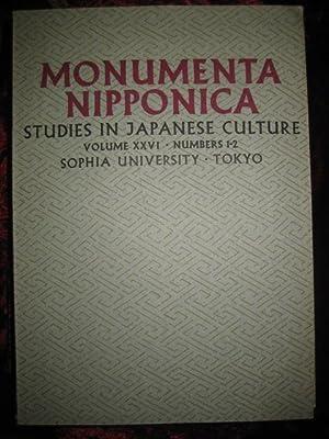 Monumenta Nipponica. Studies in Japanese Culture. Volume: Cooper, Michael (Editor):