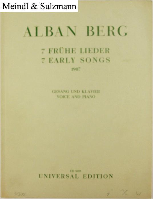 7 frühe Lieder - 7 Early Songs: Berg, Alban.