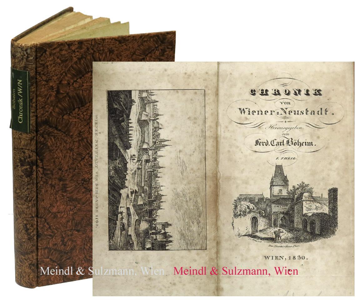 Chronik Von Wiener Neustadt Teil I Von 2 De Wiener Neustadt