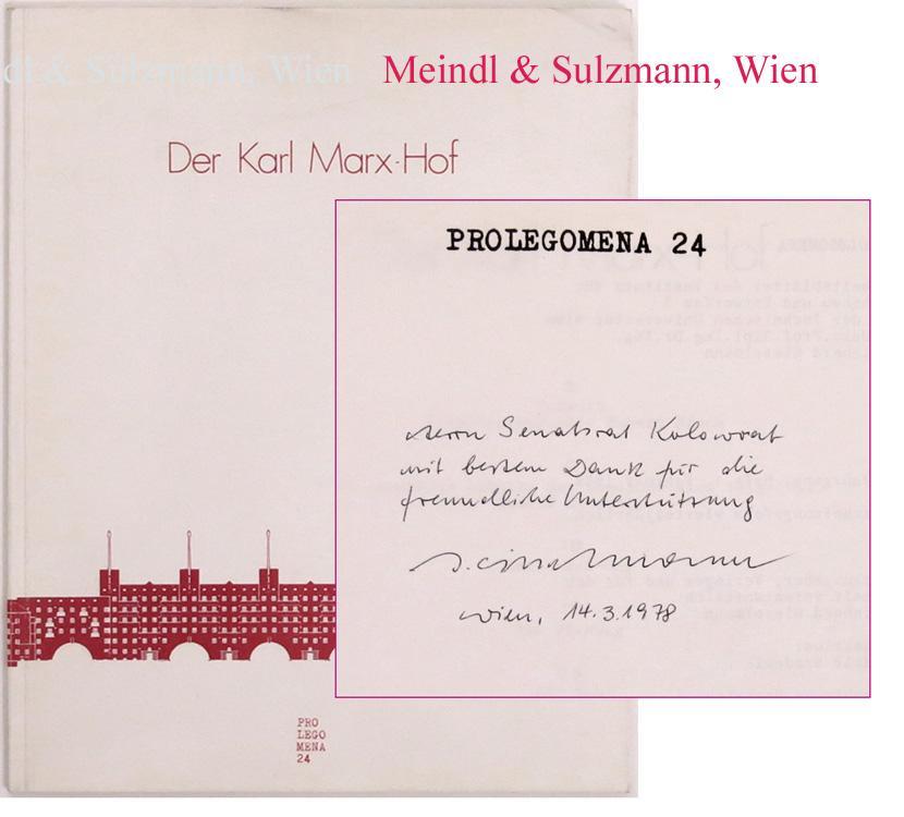 Der Karl Marx-Hof. Prolegomena. Arbeitsblätter des Instituts für ...