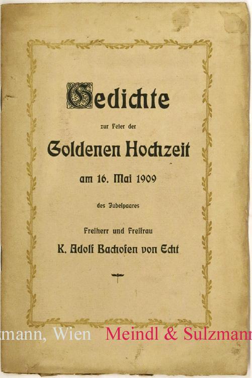 Gedichte Zur Feier Der Goldenen Hochzeit Am