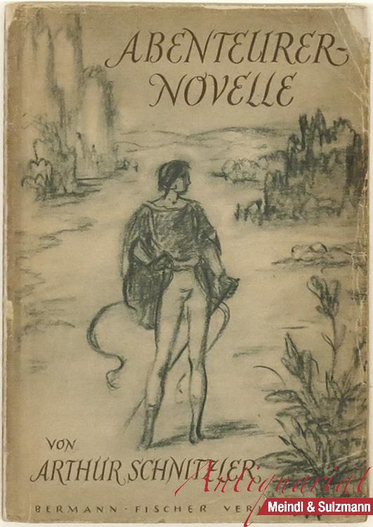 Abenteurernovelle. Mit 16 Zeichnungen von W. Müller: Schnitzler, Arthur.