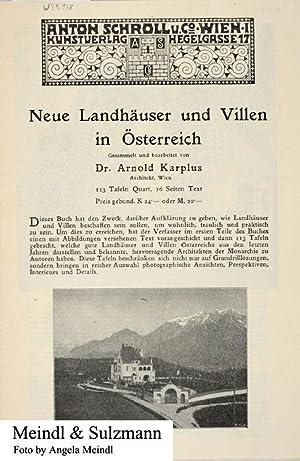 1 Reklameprospekt (mit Bestellzettel): Neue Landhäuser und: Schroll, Anton; Kunstverlag.-