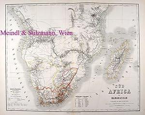 "Grenzkolor., gestochene Karte aus Heinrich Kiepert: Hand-Atlas: Afrika - ""Süd"