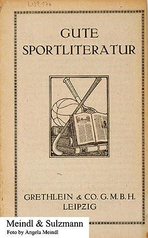 1 Reklameprospekt: Gute Sportliteratur. Grethlein & Co.: Grethlein & Co., Leipzig.-