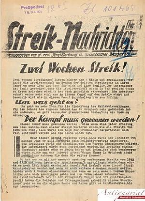 Streik-Nachrichten Nr 2. Herausgegeben von d. rev.: Honner, Franz (Hrsg.).