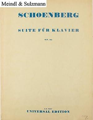 Suite für Klavier. Op. 25. Präludium Gavotte: Schönberg, Arnold.