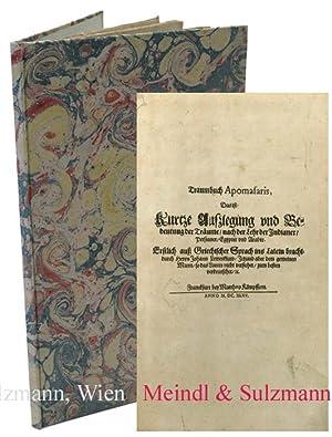 Traumbuch Apomasaris, Das ist: Kurtze Außlegung und: Traumbuch - Leunclavius