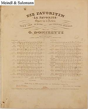 Die Favoritin . Oper in 4 Acten.: Donizetti, G(aetano).
