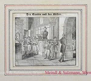 """Neuer Orbis Pictus für die Jugend: """"Der: Kantor u. Küster"""