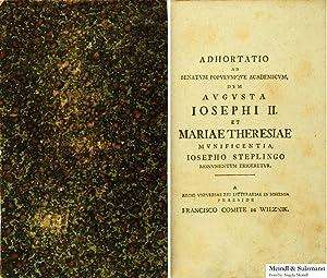ad Senatum Populumque Academicum, dum Augusta Josephi: Stepling, Joseph.- Adhortatio