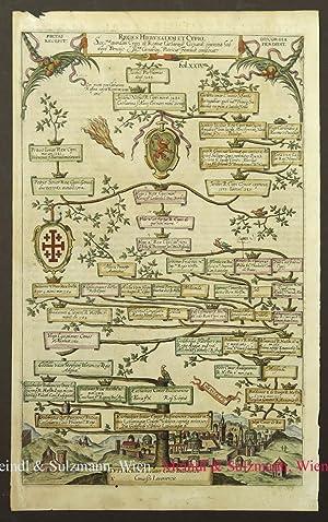 "Reges Hierusalem et Cypri"". Blatt XXIV aus: Jerusalem - Kolorierter"
