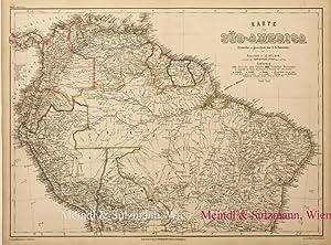 """Karte von Süd-America. Nördl. Theil"""". Aus Meyer's: Südamerika - Grenzkolorierte,"""