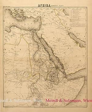 "Afrika, nordöstl. Blatt"". Aus Meyer's Hand-Atlas der: Afrika - Grenzkolorierte,"