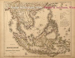 """Karte von Hinter-Indien und den Ostindischen Inseln"""".: Indien / Indonesien"""