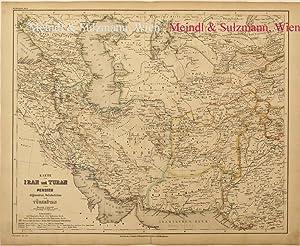 Karte von Iran und Turan oder Persien,: Persien - Grenzkolorierte,