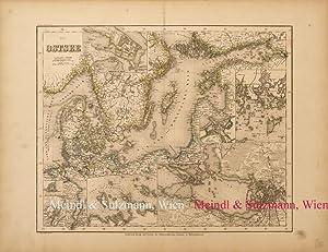 """Die Ostsee"""". Aus Meyer's Hand-Atlas der neuesten: Ostsee - Grenzkolorierte,"""