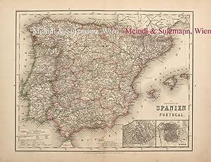 """Die Königreiche Spanien und Portugal"""". Aus Meyer's: Spanien / Portugal"""