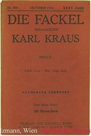 Adolf Loos / Man frage nicht. Rede: Loos, Adolf.- Kraus,