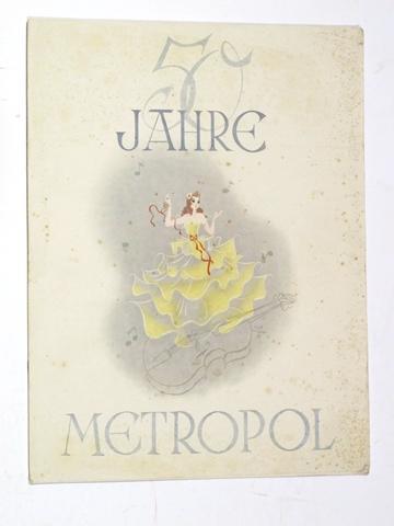 50 Jahre Metropol 1892-1942.: Hentschke, Heinz: