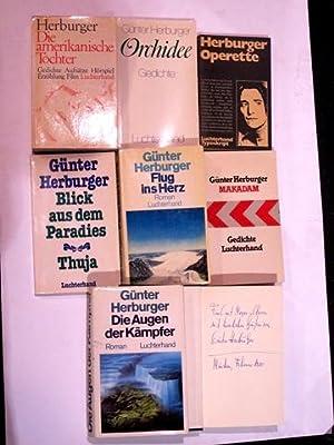 Konvolut von 7 Werke in 1. Auflage: Herburger, Günter: