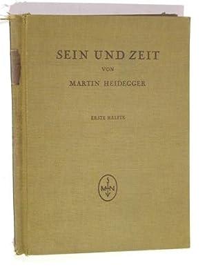 Sein und Zeit. Erste Hälfte. Sonderdruck aus: Heidegger, Martin: