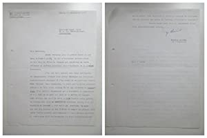 Signed letter (2 pages) from Gabriel Marcel dated on 23.10.1967 to Roger Bauer.