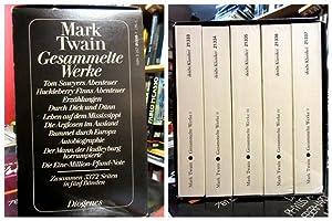 Gesammelte Werke in fünf (5) Bänden. Herausgegeben,: Twain, Mark: