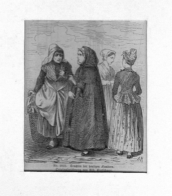 BELGIEN: FLANDERN: Vier Frauen in Tracht --*--: Kretschmer