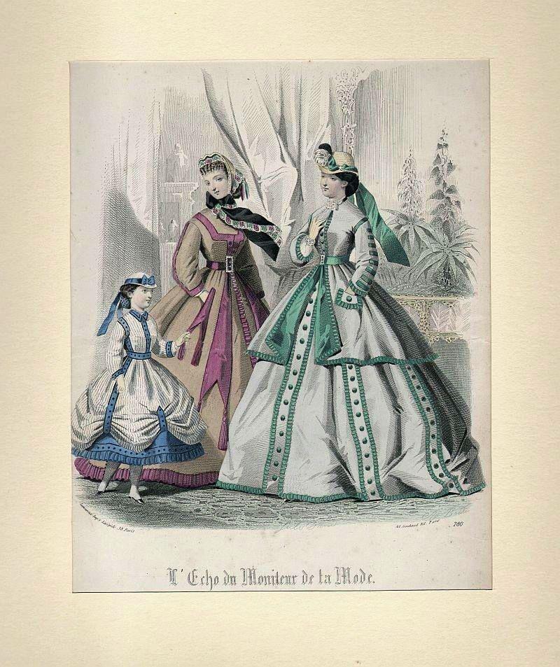 DAMEN-MODE: Zwei Damen und Mädchen - -: Lamoureaux/ Goubaud