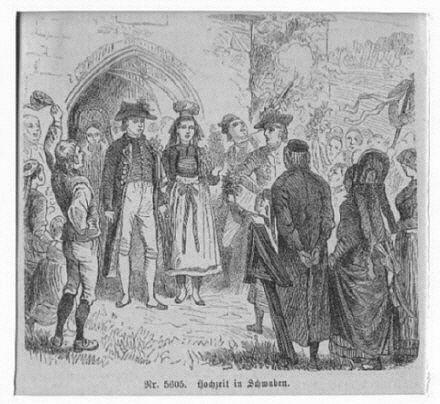 SCHWABEN: Hochzeit in Schwaben, viel ländlich gekleidetes: Kretschmer