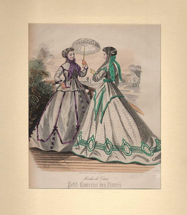 DAMEN-MODE: Zwei Damen auf einer Terrasse eine: Gilquin