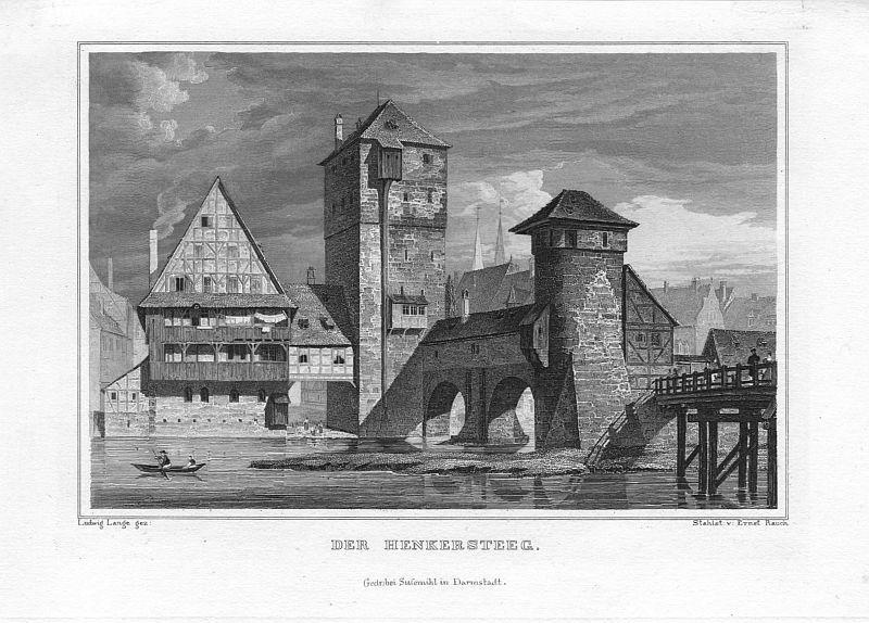 nuernberg henkersteg um 1835 von ernst rauch zvab. Black Bedroom Furniture Sets. Home Design Ideas