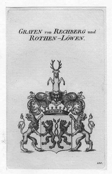 Wappen: Rechberg und Rothen-Löwen Grafen von **.**