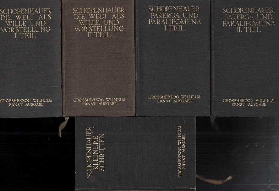 Sämmtliche Werke in fünf Bänden: SCHOPENHAUER Arthur