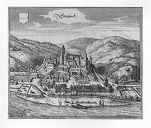 ÖSTERREICH: STEYREGG/ OBERÖSTERREICH: Gesamtansicht --- um 1649, Kupferstich, 14x17 ...