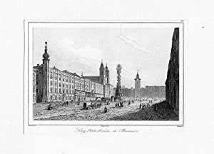 ÖSTERREICH: LINZ/ DONAU: Marktplatz ---- um 1835, Stahlstich, 9x14 cm Bildformat: Traversier/ ...
